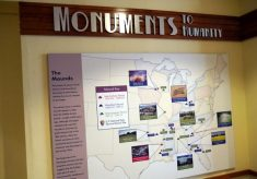 map of mound sites in U.S.