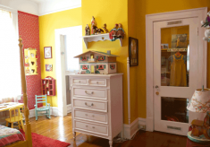 yellow child's bedroom