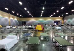 cots in big room