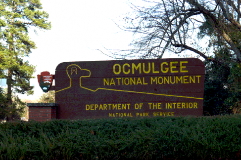 Hiking in Ocmulgee National Monument, Georgia